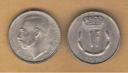 LUXEMBURGO -  1 Franc 1976  KM55 - Luxemburgo