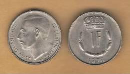 LUXEMBURGO -  1 Franc 1976  KM55 - Luxemburg