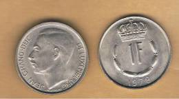 LUXEMBURGO -  1 Franc 1978  KM55 - Luxemburgo