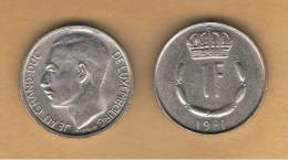 LUXEMBURGO -  1 Franc 1981  KM55 - Luxemburgo