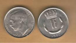 LUXEMBURGO -  1 Franc 1982  KM55 - Luxemburgo