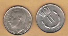 LUXEMBURGO -  1 Franc 1984  KM55 - Luxemburgo