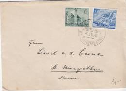 REICH USED LETTER 1940 REICHSMESSESTADT - Briefe U. Dokumente