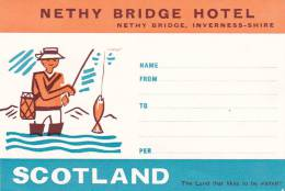 SCOTLAND INVERNESS-SHIRE NETHY BRIDGE HOTEL VINTAGE LUGGAGE LABEL - Hotel Labels