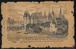 75 --- Vieux Paris --  Le Palais Du Roy , La Cite , Le Pont Aux Meuniers En 1556 - Non Classés