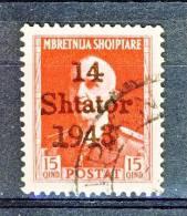 Albania Occupazione Tedesca 1943 N. 6 C. 15 Rosso + N. 8 C. 30 Violetto USATi - Occ. Allemande: Albanie
