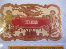 2 étiquettes  1870 à 1890  - Curaçao C.T. & CURACAO Supérieure  Imprimeur NISSOU - Rhum