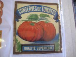 1 étiquettes  1870 à 1890  - Conserves De Tomattes - Impr.  Romain & Palyart - Otros