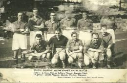 59 VALENCIENNES ANZIN SPORT FOOTBALL CARTE PHOTO UNION SPORTIVE 1937 1938 NORD - Valenciennes