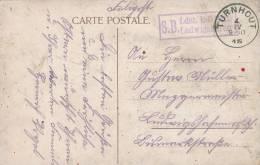 864/20 - Carte-Vue En Feldpost TURNHOUT 1915 Vers Allemagne - Cachet De Franchise SB Ldst. Ludwigshafen - Esercito Tedesco