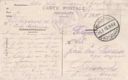 865/20 - Carte-Vue En Feldpost NEUFCHATEAU 1915 Vers Allemagne - Cachet De Franchise Aigle De KREUZNACH - WW I