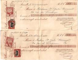 Etablissement Louis Van Goistenhoven Vente à Crédit Quitance De Payement 1920 Et 1921 - Belgique