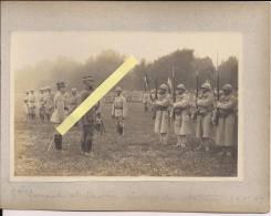 Champagne Le Général Gouraud Et Le Général Chrétien Lecture Des Citations 100e 5RI Poilus 1914-1918 14-18 Ww1 WWI 1.wk - Guerra, Militari