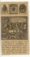 Article D Un Journal Anglais Paru En 1929 Postal  Union Congress London  BE - Inglés