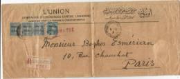 - Lettre - BFE LEVANT - TURQUIE - CONSTANTINOPLE - RECOMMANDEE - Càd S/N°32+Bde De 3 N°34 - 1922 - Levant (1885-1946)