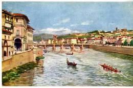 ITALIE  FIRENZE  PONTE ALLE GRAZIE CON S. SALVATORE E S. MINIATO  TRES BELLE ILLUSTRATION - Firenze