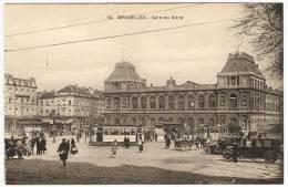 GARE DU NORD    ----  ( Tram Et Automobiles Anciennes ) - Chemins De Fer, Gares