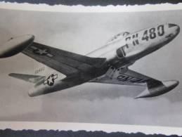 MILITARIA Photo (Gevaert) ,Photographie Avion à Réaction En Vol (modèle Type Américain à Identifier) PN 480 - Aviation