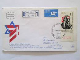 ISRAEL1973 30TH ANNIVERSARY RESCUE DANISH JEWS FDC - Covers & Documents