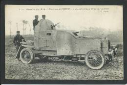 BELGIQUE. FURNES  EN 1914. AUTO-MITAILLEUSE BELGE.. ANIMEE...UNIFORME...C1319 - Belgique