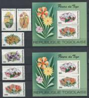 TOGO 1975 - Fleur  Flower Blumen - Neuf Sans Charniere (Yvert 827/30 - A 244/45 - 2 BF 85 D Et ND) - Togo (1960-...)