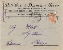 Lecco - Pubblicitaria Della Ditta Dell´Oro & Bianchi - Lecco