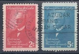 130403210  CUBA  YVERT Nº  321/322 - Gebraucht