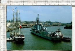 """Le  """"  BELEM """"  à Quai -  Arrivée  Du """" MAILLE BREZE  """"-  Le 08 Juin 1988  - NANTES - Le Port - Voiliers"""