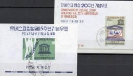 UNESCO Lorbeer 1961 Emblem Korea Block 169+240 O 11€ Symbol Erziehung Bildung M/s UNO Bloc Sciences Sheet Of South-Corea - UNESCO
