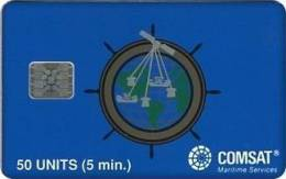 United States - Comsat Satellite Card (Schlumberger #2020 Chip SI5), 50units, 55.500ex, Used - United States