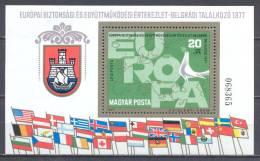 Hongrie Bloc-feuillet YT N°132 Conférence Sur La Sécurité Et La Coopération En Europe Neuf ** 2nd CHOIX - Blocs-feuillets