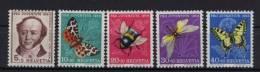 Schweiz Michel No. 602 - 606 ** postfrisch