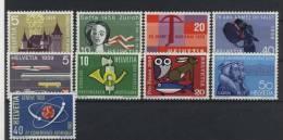 Lot Schweiz Michel No. 653 - 656 , 668 - 671 , 662 ** postfrisch