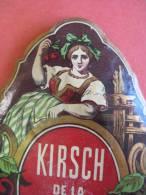 1étiquette 1870 à 1890  - XIX Ième - KIRSCH De La FORET NOIRE - (CERISES) - Imprimeur E. PICHOT - Rhum