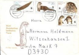 DDR / GDR - Mi-Nr 3107/3110 Umschlag Echt Gelaufen / Cover Used (b314) - Lettere