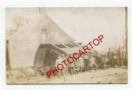 DERAILLEMENT-NON SITUEE-Train-Locomotive-CARTE Allemande-Guerre-14-18-1 WK-BELGIEN-BELGIQUE-MILITARIA-ZUG- - Houthulst