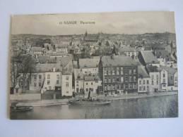 Namen Namur Panorama Avec La Meuse Et Bateau  Vapeur Circulée 1920 - Namur