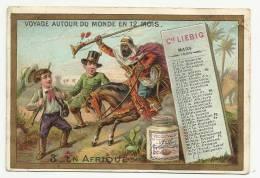 LIEBIG Chromo  - Voyage Autour Du Monde En 12 Mois  (calendar - Calendrier Mars 1888) - 3 - En Afrique - Liebig