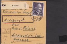 A17  /    Deutsches Reich 800 A EF Paketkarte  Bodenmais - Lichtenstein 1943 - Brieven En Documenten
