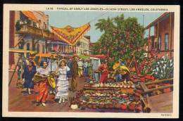 Typical Of Early Los Angeles -- Olvera Street, L.A. , Calif. Postcard V170 - Los Angeles