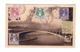 Chaînes Brisées Paris Arc De Triomphe Tribunal De Commerce 1945 - Briefe U. Dokumente