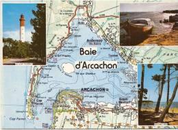 Le Bassin D'arcachon - Carte Géographique - écrite TTB - Arcachon