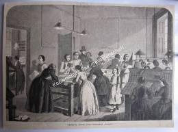Zeitung Ausschnitt Zeichnung Druck Ca. 1860 - 1900 Setzersaal Buchdruckerei Victoria London - Drawings