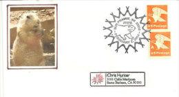 USA. Les Chiens De Prairie. Sun Prairie, Wisconsin,  Enveloppe Souvenir 2004 - Cani