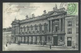BELGIQUE. BRUXELLES.... EN 1910...LA BANQUE NATIONALE... ANIMEE...C1336 - Monuments, édifices