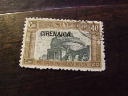 CIRENAICA 1927 MILIZIA I 40+20 C USATO - Cirenaica
