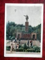 Ashkhabad, Ashabad - Monument To Lenin At Lenin Square - Stamped, Sent To Estonia - 1957 - Turkmenistan - USSR - Used - Turkménistan