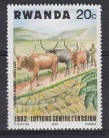 Rwanda 1983 Mi. 1224     20 C Kampf Gegen Die Bodenerosion MNH** - Rwanda