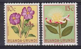 Ruanda-Urundi 1953 Mi. 133-34 Einheimische Flora Flower Blume MNH** - Ruanda-Urundi