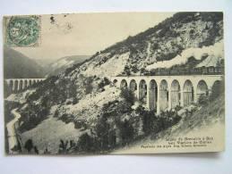 Cpa, Très Belle Vue Animée, Train, Ligne De Grenoble à Gap, Les Viaducs De Clelles - Other Municipalities